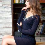 売り切れ続出!元エッグモデルのねもやよさん着用ドレス3。