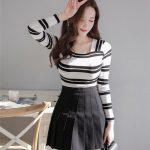 韓国風オルチャンファッションと言えばこのプリーツスカート。
