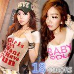 お勧めの韓国オルチャンTシャツ。18種類から選べます。