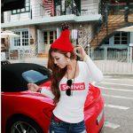 お勧めの韓国レディースファッション白のロンT。マストのアイテムですね!